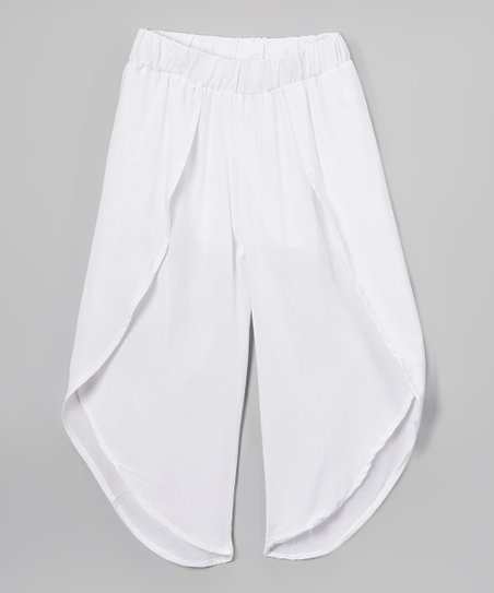 3fa66fd596f love this product White Flowy Pants - Girls