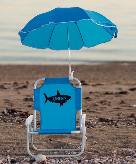 Marvelous Lollipop Kids Shoppe Blue Shark Personalized Kids Beach Chair Umbrella Gmtry Best Dining Table And Chair Ideas Images Gmtryco