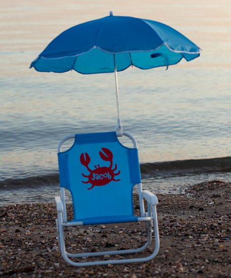 Superb Lollipop Kids Shoppe Blue Crab Personalized Kids Beach Chair Umbrella Gmtry Best Dining Table And Chair Ideas Images Gmtryco