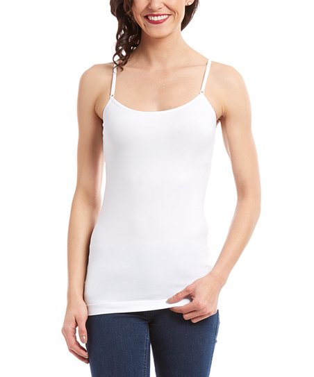 970f02a38120 love this product White Lace-Trim Racerback Camisole