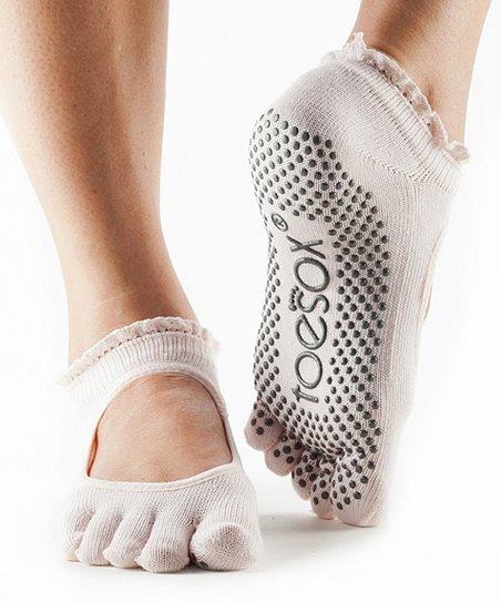 b9cc7091b love this product Sweet Pea Lace Bella Organic Cotton Full-Toe Gripper Socks  - Women