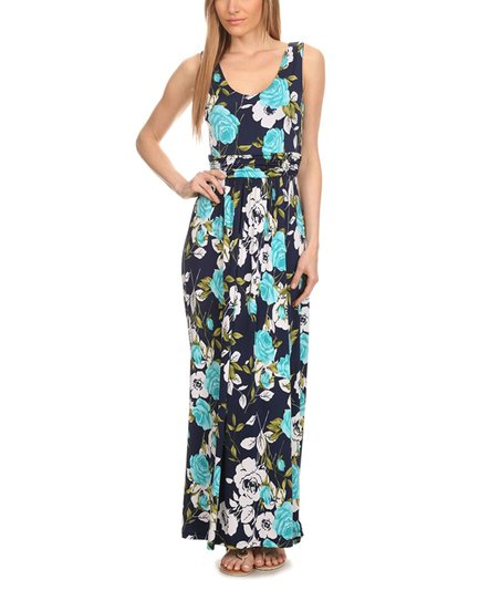 7f23c5ae1ee love this product Teal   Navy Floral Maxi Dress