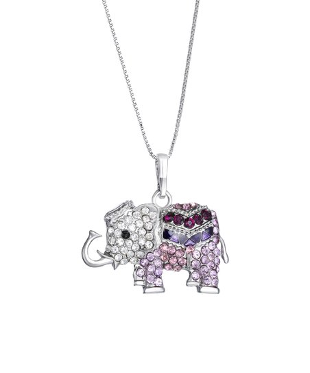260c116a1 love this product Purple Swarovski® Crystal Elephant Pendant Necklace