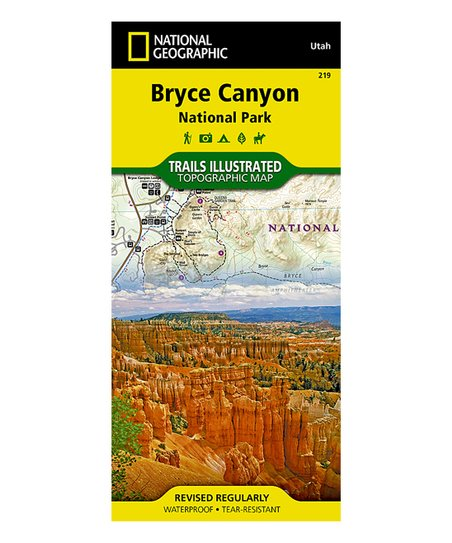 National Geographic Bryce Canyon National Park Map Zulily