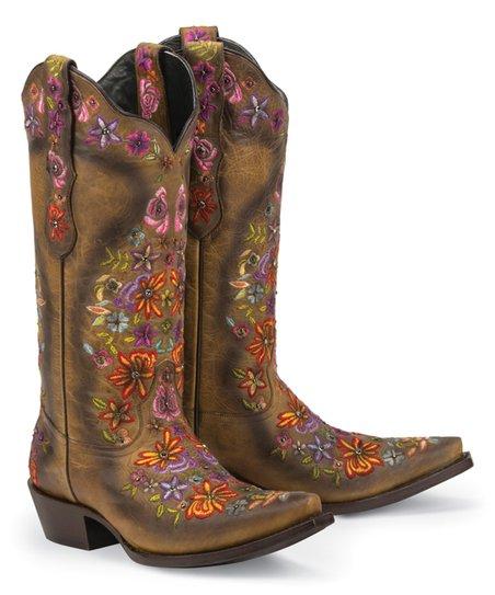 553d2642678 Black Star Tan Sweetgrass Leather Cowboy Boot - Women