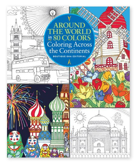 Sterling Around the World in 80 Colors Coloring Book Paperback | Zulily