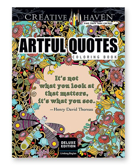 Dover Publications Artful Quotes Coloring Book