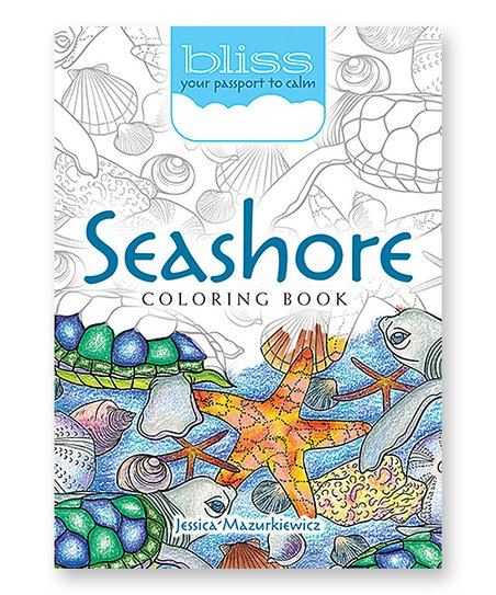 Dover Publications Seashore Your Passport To Calm Coloring Book
