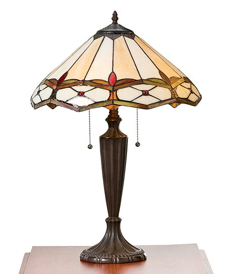 Plow Hearth Gold Ruby Stained Glass Table Lamp Zulily
