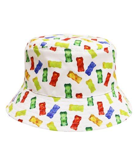 78d4fb91352 City Hunter USA White Gummy Bear Americas Favorite Food Bucket Hat ...