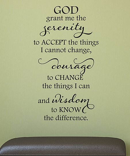 Wall Quotes™ by Belvedere Designs Serenity Prayer Elegant Wall Quotes™ Decal