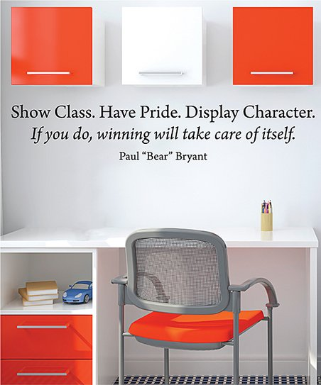Wall Quotes™ by Belvedere Designs 'Class Pride Character' Wall Quotes™ Decal