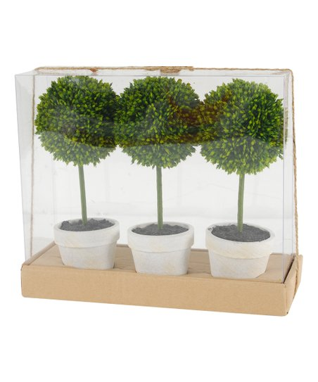 Established 98 Mini Topiary Tree Arrangement Set Of Three Best Price And Reviews Zulily