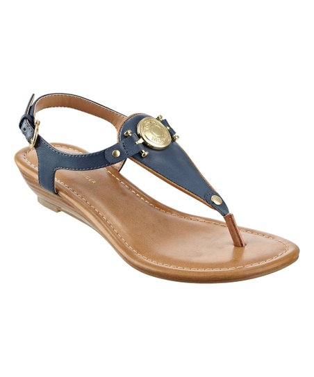 5781367dad53 love this product Navy   Brown Medallion Malorien Sandal