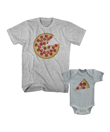 3e109db100f love this product Heather Gray Pizza Tee & Slice Bodysuit - Infant