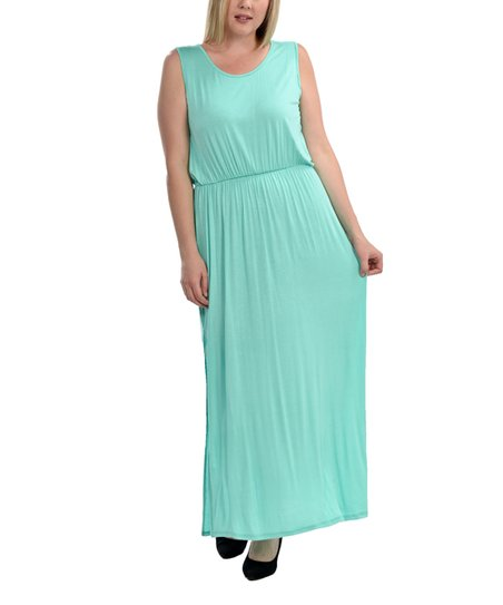 ba7328b446 love this product Mint Green Side-Slit Maxi Dress - Plus