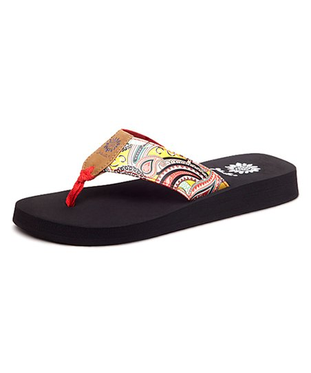 orange yellow box flip flops - Entrega
