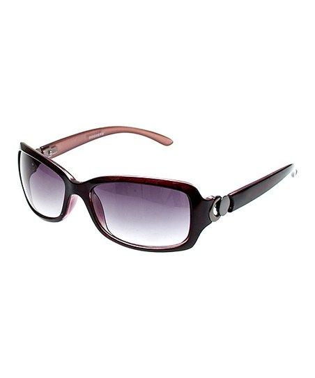 09173cd2d2d Dockers Berry   Plum Embellished Rectangle Polarized Sunglasses