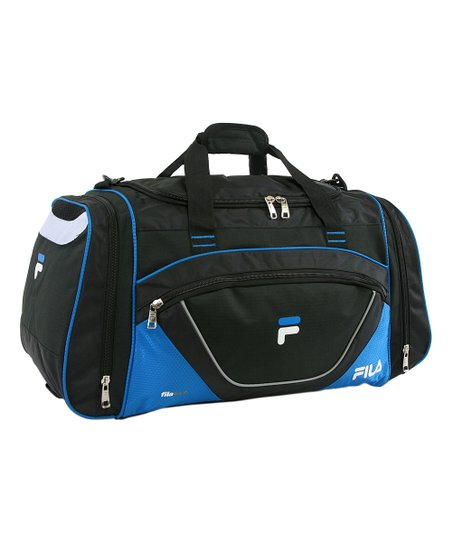 Black   Blue FILA Acer Sport Duffel Bag  3a114d3995