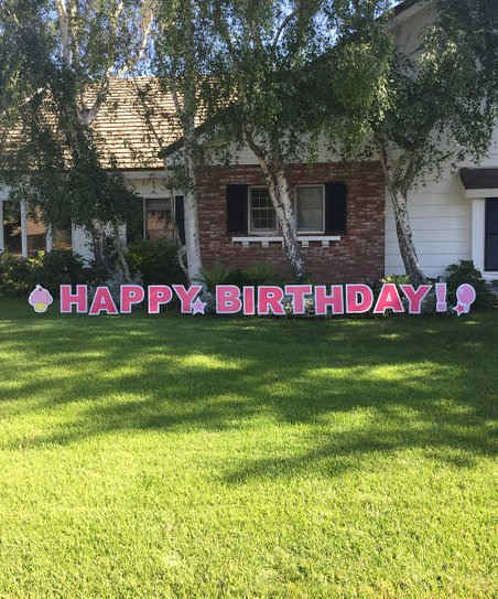 Love This Product Pink Happy Birthday Yard Sign