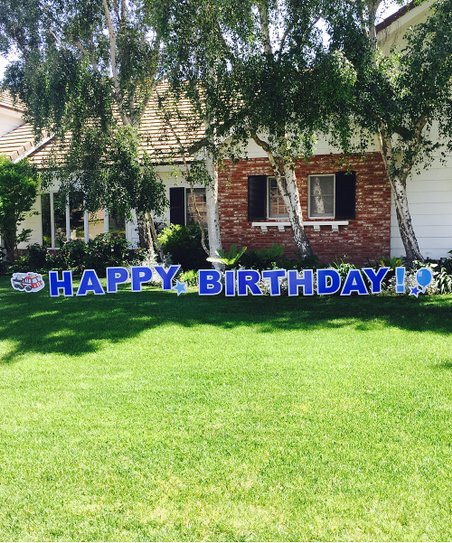 Love This Product Blue Happy Birthday Yard Sign