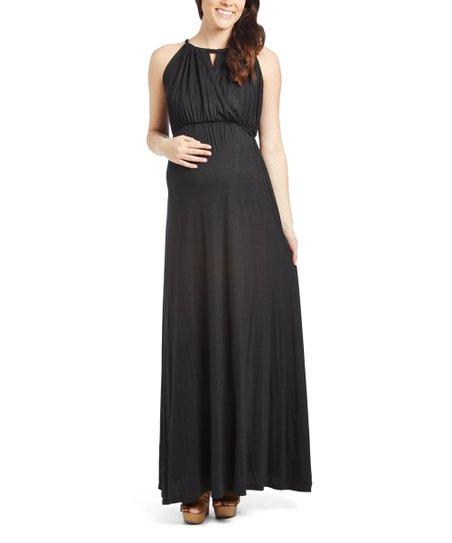 Black Maternity Maxi Dress Zulily