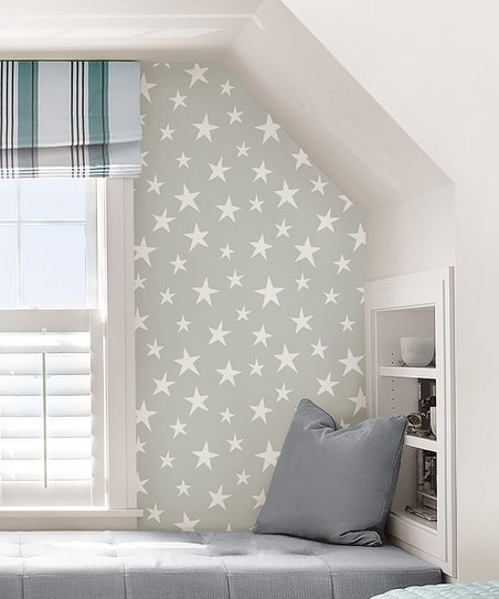 WallPops! Gray Stardust Peel   Stick Wallpaper  d920a68434