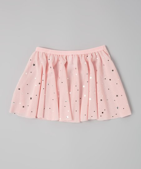 Poppy & Plum Pink Stars Mesh Skirt - Girls