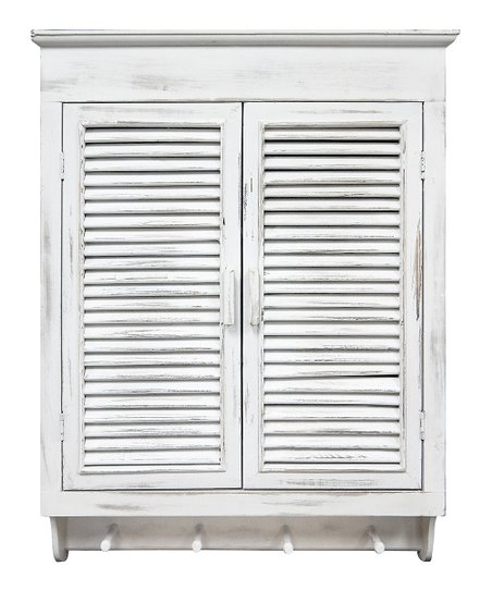 Distressed Louvered Cabinet