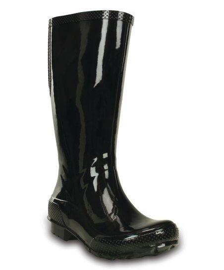 4c532f2ba8dcb2 Crocs Black Tall Rain Boot - Women