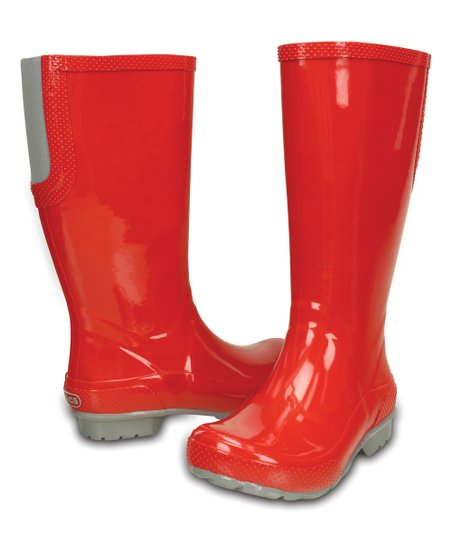d0543401605094 love this product Red Tall Rain Boot - Women