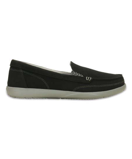 d6a996b619a Crocs Black   Graphite Walu II Canvas Loafer - Women