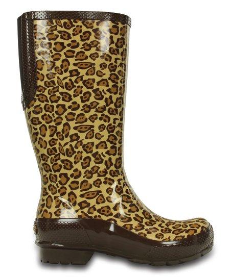 fa61ecdc6f4bd0 Crocs Leopard Tall Rain Boot - Women