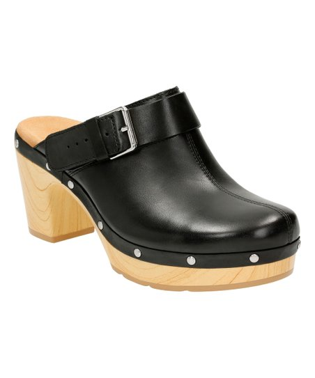 7bba90e1897c Clarks Black Ledella York Leather Clog