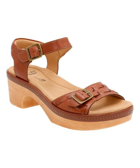 Womens Sandals Clarks Preslet Stone Tan