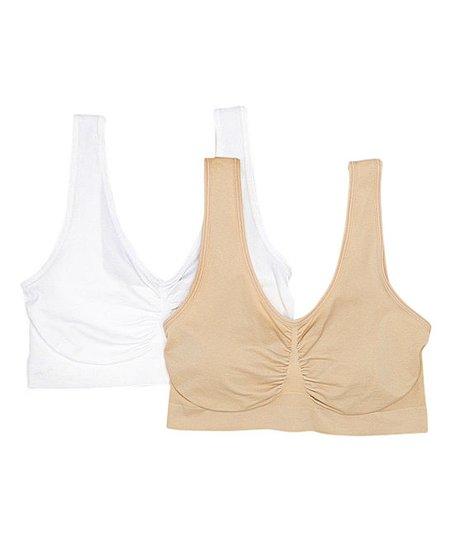 7c0cff38a71 Dynashape Intima White   Nude Seamless Wireless Maternity Bra Set ...