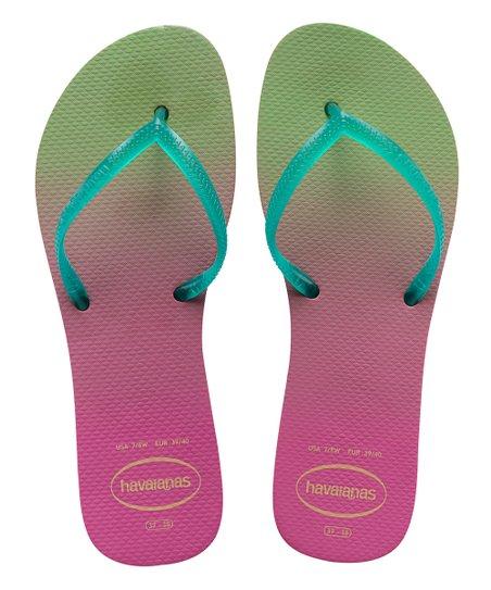 Havaianas Fuchsia Green Ombre Flat Flip Flop Women Zulily