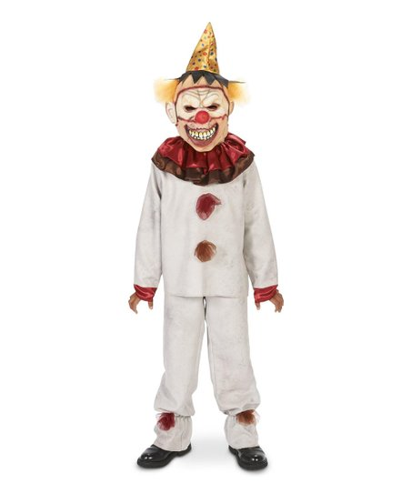 Dream Weaver Collection White & Red Scary Carnival Clown Costume - Boys
