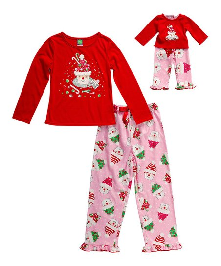 2e95e1113 Dollie & Me Red Santa Cupcake Pajama Set & Doll Outfit - Girls | Zulily