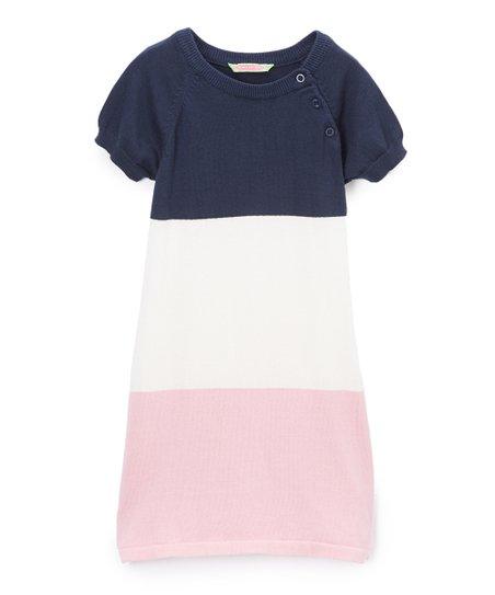 0239f6fd98865 Sophie & Sam Navy & Rose Color Block Sweater Dress - Toddler & Girls