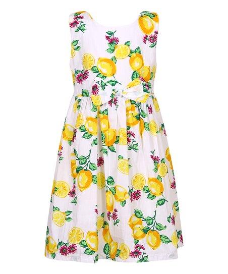 d85636c90 Richie House Lemon Sleeveless Dress - Girls