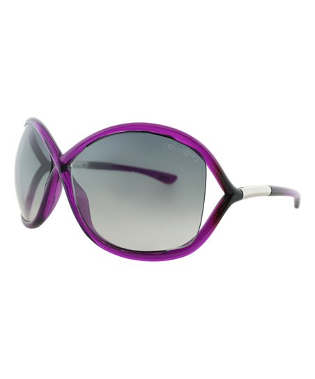 01f4f921a0 Tom Ford Crystal Purple   Smoke Gradient Whitney Oversize Sunglasses ...
