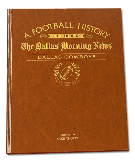 Signature Gifts Dallas Morning News Dallas Cowboys Personalized Book ... 9482aa716