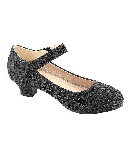 Bella Marie Black Glitter Nessa Dress Shoe Girls Zulily