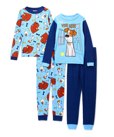 7b177f585 Secret Life of Pets Navy Four-Piece Pajama Set - Boys