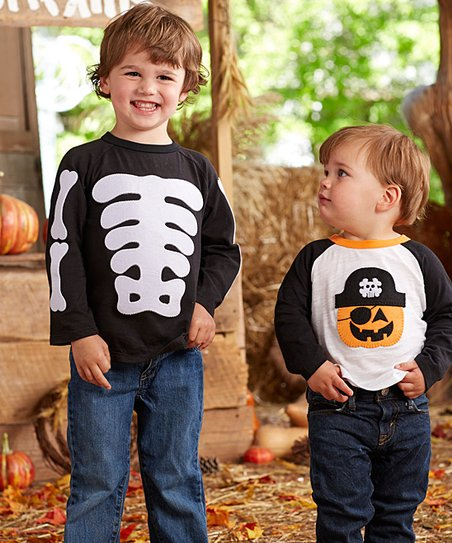9389ada7c love this product Black & White Skeleton Long-Sleeve Tee - Infant, Toddler  & Boys