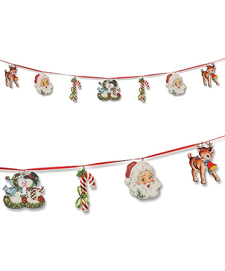 love this product Retro Christmas Die-Cut Garland