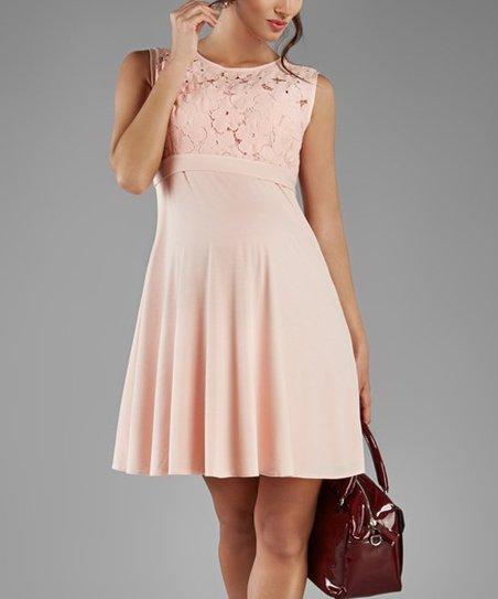 9a0be822b1 Elpasa Light Pink Areta Maternity Dress