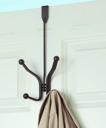 Home Basics Bronze Over The Door Two Hook Hanging Rack Zulily
