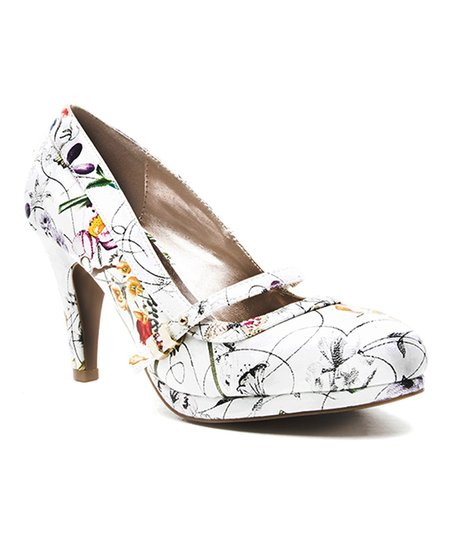 1038ecbfad love this product White Floral Teaser Pump - Women